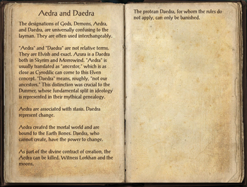 Aedra and Daedra, as seen in The Elder Scrolls Online