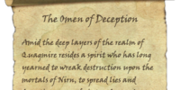 The Omen of Deception