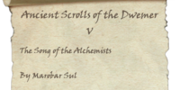 Ancient Scrolls of the Dwemer V