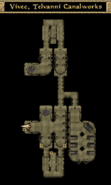 Vivec, Telvanni Canalworks Interior Map Morrowind