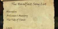 The Handfast Song List