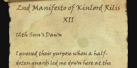 2nd Manifesto of Kinlord Rilis XII