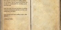 Tinkerer Tobin's Big Book of Crafting Recipes