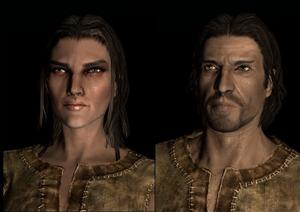 Mannelijke en vrouwelijke Keizerlijke in The Elder Scrolls V: Skyrim