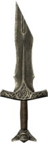 Broken steel sword hilt