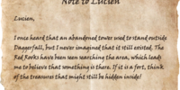 Note to Lucien
