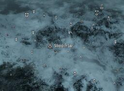 Skyrim map Silverdrift Lair