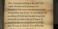 Letter to Vals Veran