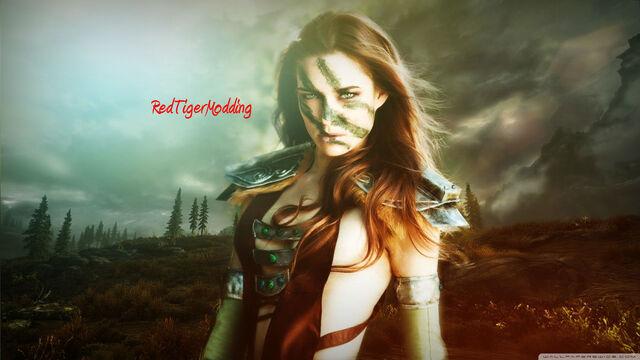 File:Aela the huntress skyrim-wallpaper-1366x768.jpg