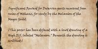 Defaced Mages Guild Reward Notice