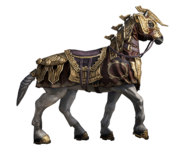 Armored Dwarven War Horse