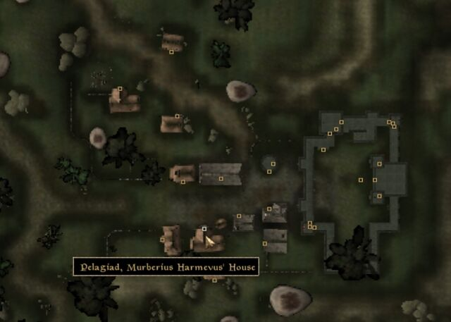 File:TES3 Morrowind - Pelagiad - Murberius Harmevus' House - location map.jpg