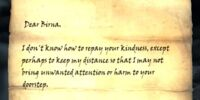 Letter from the Vampire