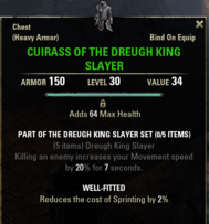 Dreugh King Slayer - Cuirass 30
