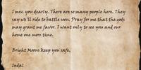 Indal's Letter