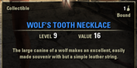 Wolf's Tooth Necklace