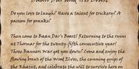 Baan Dar and His Boast