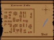 Karnver falls view full map