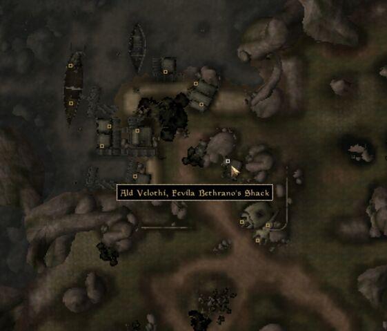 File:TES3 Morrowind - Ald Velothi - Fevila Bethrano's Shack - location map.jpg
