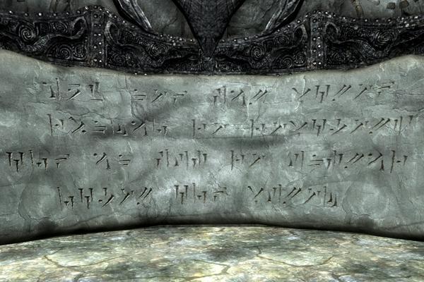 Znalezione obrazy dla zapytania skyrim dragon language wall