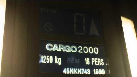Otis Cargo2000 Chain Drived Hydraulic elevator @ Perrache train Station, Lyon, France