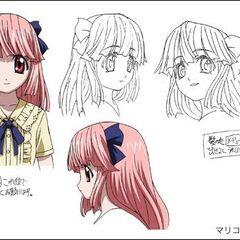 Mariko character design sheet.