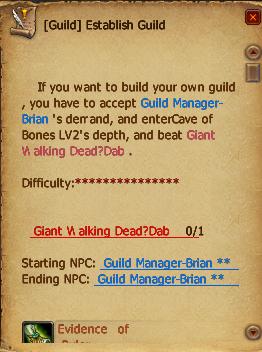 Quest establish guild