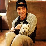 Wesley with Sampson