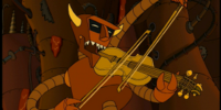 Solid gold fiddle