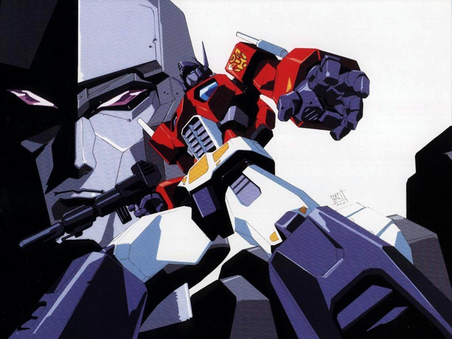 File:Convoy and Megatron by Masami Obari.png