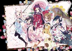 Hanayamata visual