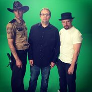 Mike Betette with Rick Grimes and Walter White