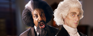 Frederick Douglass vs Thomas Jefferson Banner