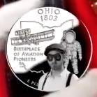 Wilbur Wright on a quarter