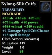 Kylong-Silk Cuffs