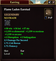 Flame Laden Earstud