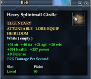 Heavy Splintmail Girdle