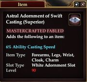 Astral Adornment of Swift Casting (Superior)