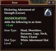 Flickering Adornment of Strength (Lesser)