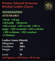 Pristine Tailored Dexterous Bristled Leather Gloves