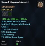 Sacred Wayward Amulet