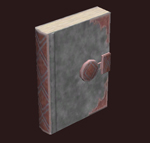Scaled-leather-notebook
