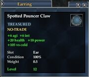 Spotted Pouncer Claw