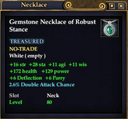 Gemstone Necklace of Robust Stance
