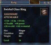 Swirled Glass Ring