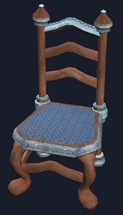 Elegant mahogany dining chair (Visible)