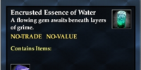 Encrusted Essence of Water