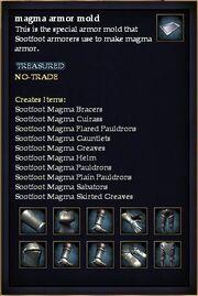 Magma armor mold