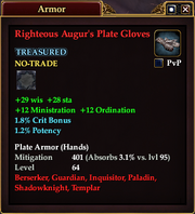 Righteous Augur's Plate Gloves