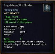 Legplates of the Hunter